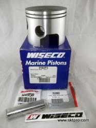 Pistão,Wiseco,motor de popa,Mercury,75,90,100,115,125hp, 4 cilindros em linha, loop charge,1994 a 2004, 3162