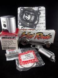 Kit Pistão Wiseco Biela Hot Rods Jogo de Juntas Moto Honda CR125 1987 553M05475