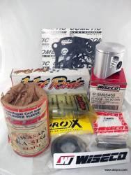 Kit Pistão Wiseco, Biela Hot Rods, Camisa Cilindro L.A.Sleeve, Jogo Juntas Cometic, Kit Retentores ProX, KX125 1992