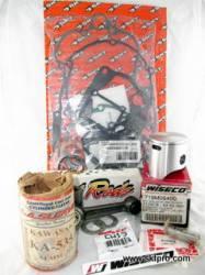 Kit Pistão Wiseco, Biela Hot Rods, Camisa Cilindro L.A.Sleeve, Jogo Juntas Cometic,Moto Kawasaki KX125 1998