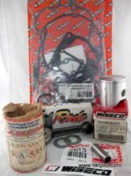 Kit Pistão Wiseco, Biela Hot Rods, Camisa Cilindro L.A.Sleeve, Jogo Juntas Athena,Moto Kawasaki KX125 1999-2000