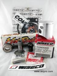 Kit Pistão Wiseco, Biela Hot Rods, Camisa Cilindro L.A.Sleeve, Jogo Juntas,Moto Kawasaki KX125 2001 783M05400